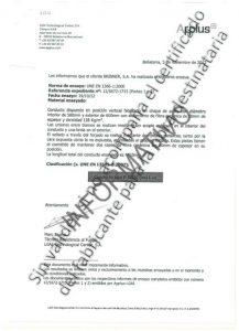 Certificado Brinner EI-30