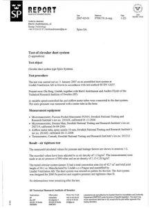 Certificado Brinner Estanqueidad