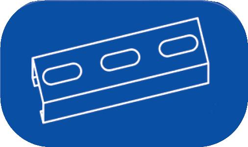 Material de montaje para conductos de chapa