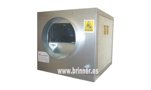 Caja de ventilación Futurfan para conductos de chapa circular