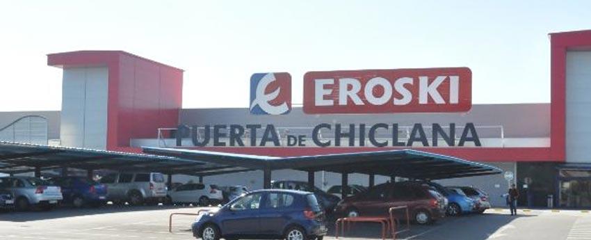Centro comercial Eroski en Chiclana de la Frontera en Cádiz